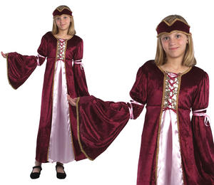 Childrens Kids Renaissance Princess Fancy Dress Costume Tudor Girls  3-13 Yrs