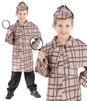 Childrens Kids Sherlock Holmes Fancy Dress Costume Book Week Outfit 6-13 Yrs