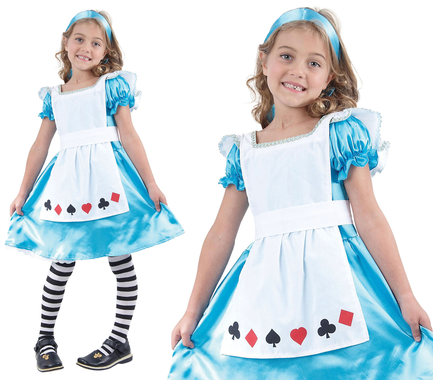 Childrens Kids Alice In Wonderland Fancy Dress Costume Book Week Outfit 3-13