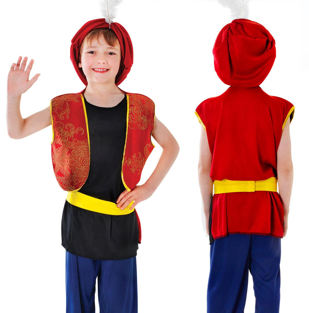 40794a7d8 Sentinel Childrens Kids Arabian Boy Fancy Dress Costume Aladdin Sultan  Outfit 3-13 Yrs Sc 1 St EBay