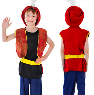 Childrens Kids Arabian Boy Fancy Dress Costume Aladdin Sultan Outfit 3-13 Yrs