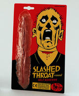 Fake Slashed Throat Wound Halloween Zombie Monster Fancy Dress
