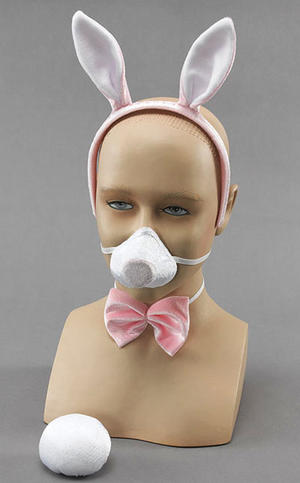 Deluxe Bunny Set Fancy Dress Kit With Sound!! Easter