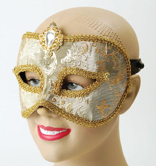 Silver Gold Mask Masquerade Fancy Dress