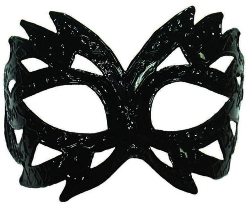 Black Pattern Mask Masquerade Fancy Dress