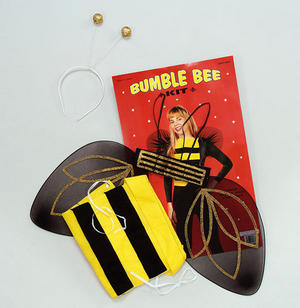 Adult Bumble Bee Wasp Costume Set Disguise Kit Animal Fancy Dress