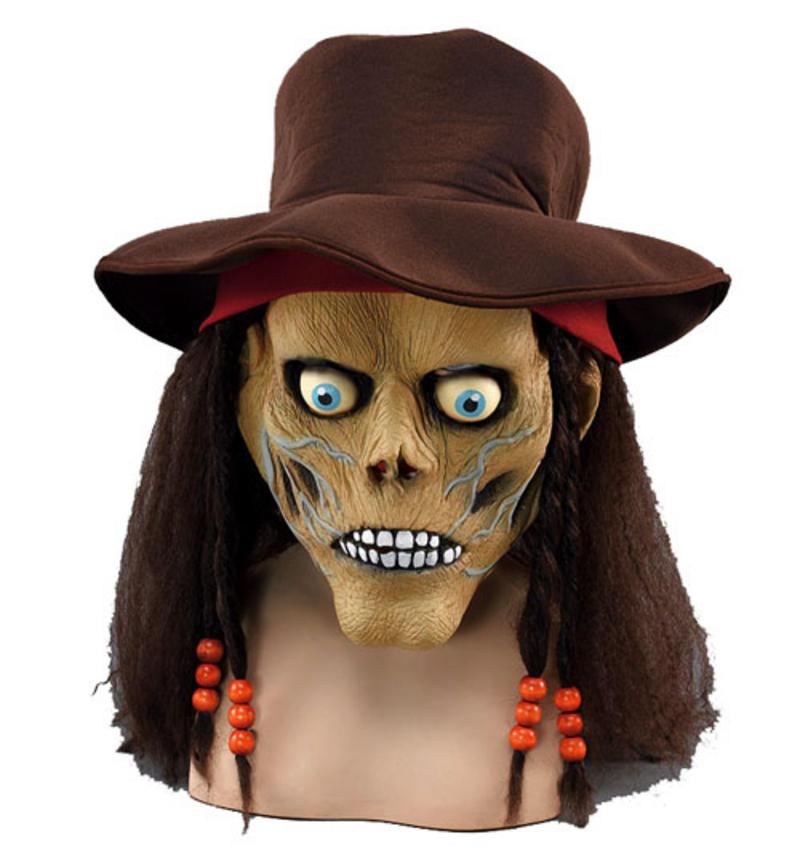 Halloween Zombie Half Face Mask & Hair Fancy Dress