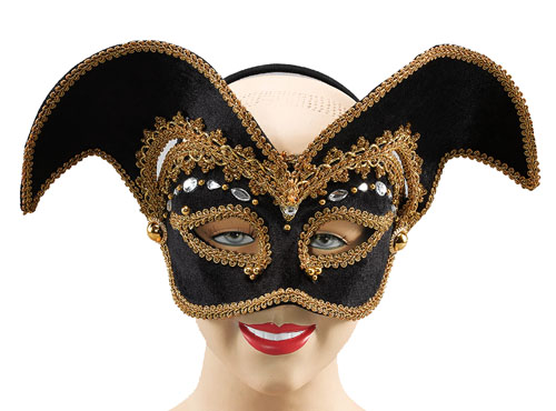 Zorro Face Mask On Headband Fancy Dress