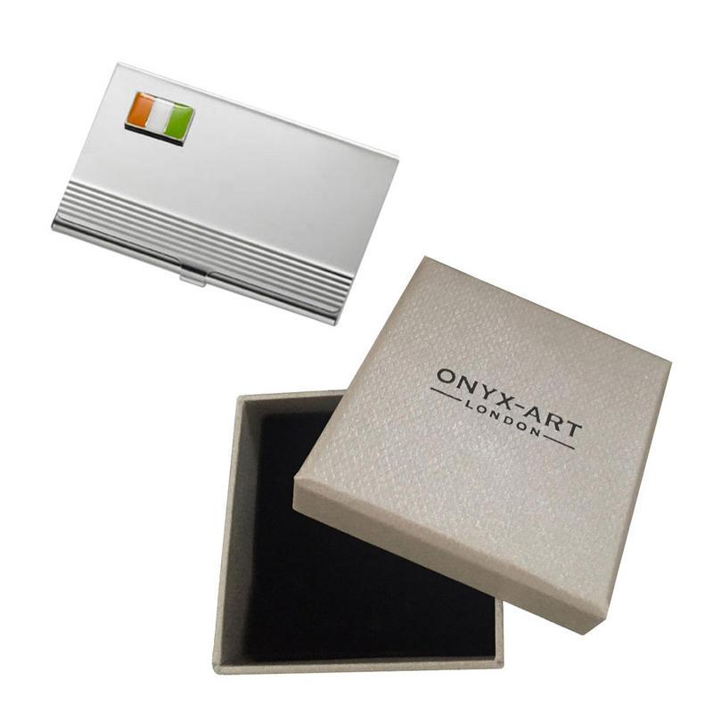 Irish Flag Ireland Business Card Holder In Gift Box