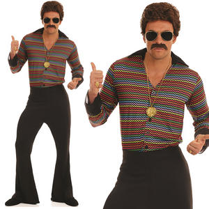 Mens Disco Fever Fancy Dress Costume 70s 1970s Adult Outfit M-XL
