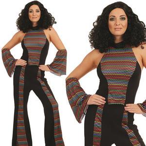 Ladies Disco Fever Fancy Dress Costume 70s 1970s Adult Womens UK 8-22 UK 8-30