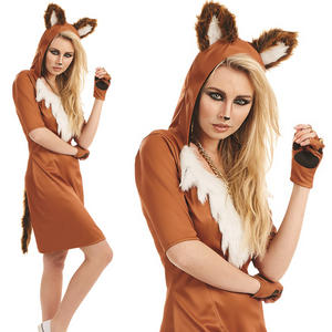 Ladies Sexy Urban Fox Fancy Dress Costume Animal Womens Outfit UK 8-22 UK 8-30