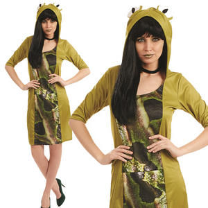 Ladies Sexy Frog Fancy Dress Costume Animal Womens Outfit UK 8-22 UK 8-30