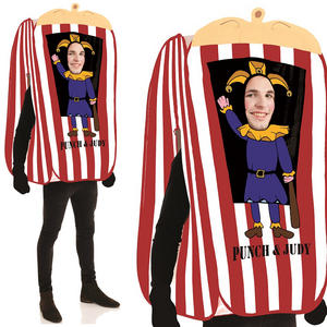 Mens Punch & Judy Show Fancy Dress Costume Stag Do Adult Outfit One Size