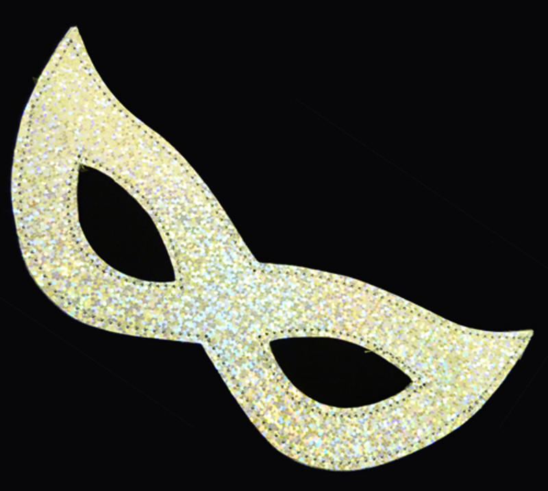 Silver Lazer Eye Mask Cyber Robot Masquerade Ball Fancy Dress