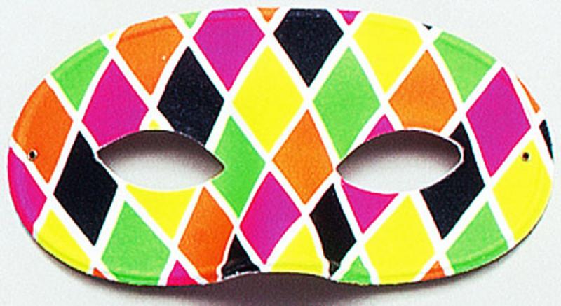 Male Harlequin Eye Mask Carnival Parade Masquerade Ball Fancy Dress