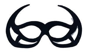Black Devil Eye Mask Demon Devil Satan Halloween Fancy Dress