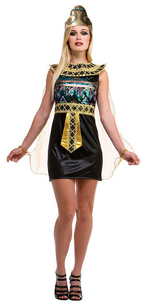 Ladies Eqyptian Fancy Dress Costume Womens Sequin Outfit UK 10-14