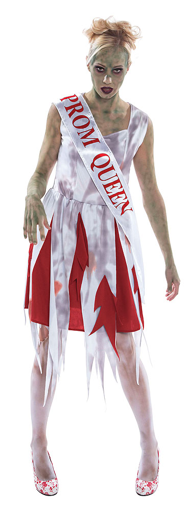 Ladies Horror Prom Queen Fancy Dress Costume Womens Outfit UK 10-14