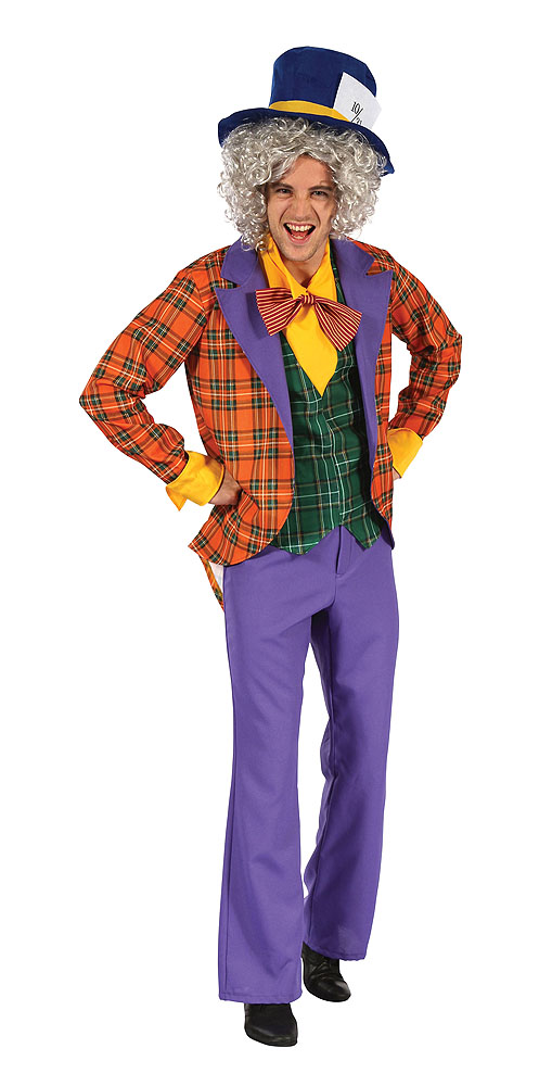 """Mens Mad Hatter Fancy Dress Costume & Hat Outfit - Up To Chest 44"""""""