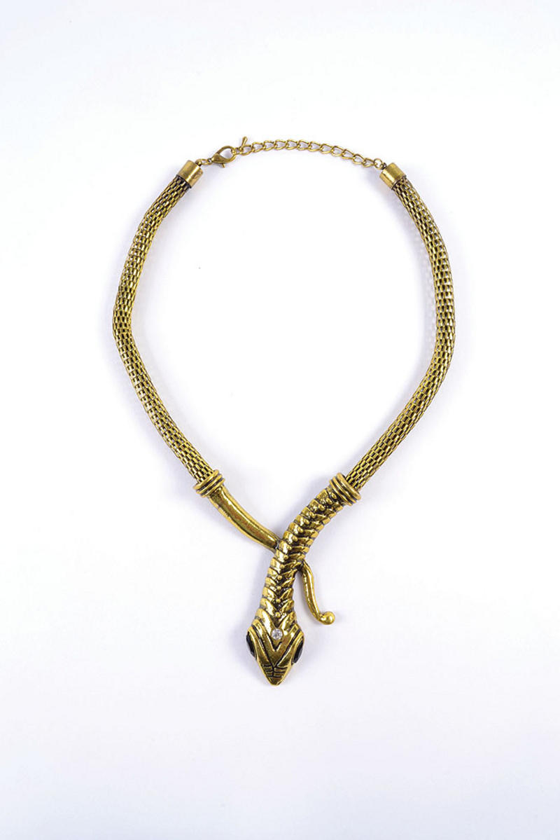 Gold Snake Necklace For Egyptian Cleopatra Fancy Dress Costume