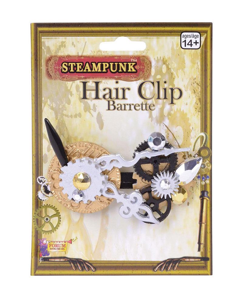 Ladies Steampunk Hair Clip Fancy Dress Costume Accessory
