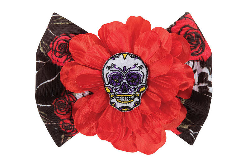 Ladies Day of the Dead Hair Clip Halloween Fancy Dress Prop