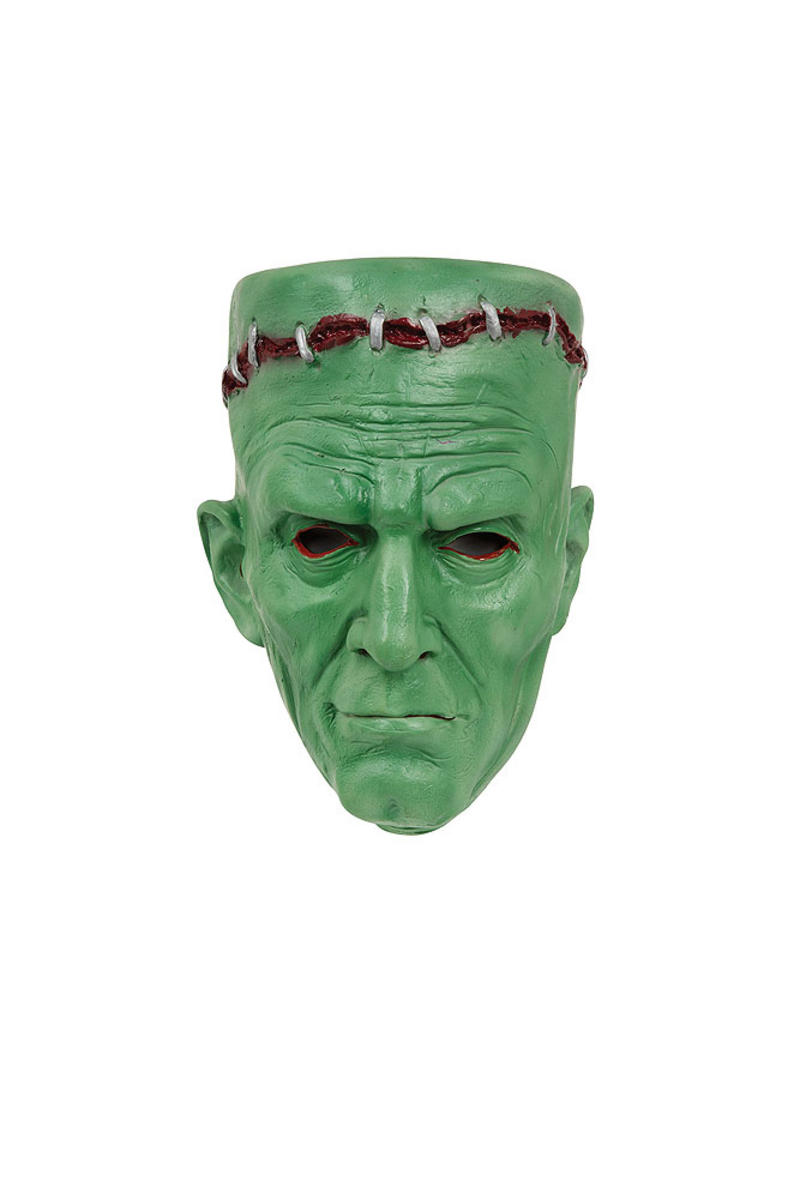 Green Rubber Frankenstein Mask Halloween Fancy Dress Costume Prop