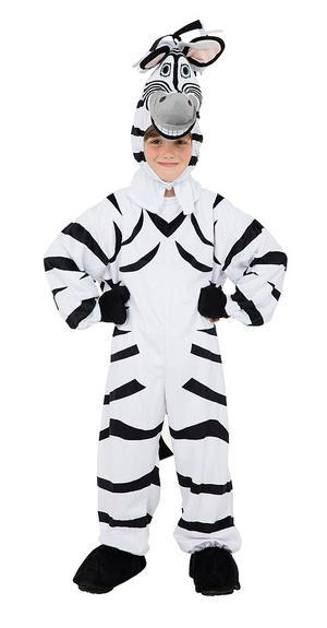 Childrens Zebra Animal Fancy Dress Costume Kids Boys Girls Childs 128cm Tall