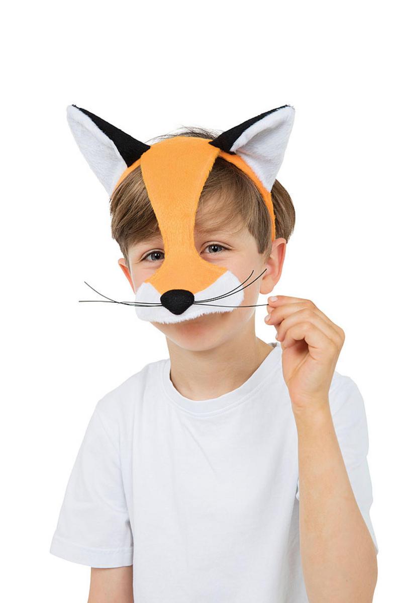 Childrens Fox Half Face Mask Book Week Fancy Dress Prop