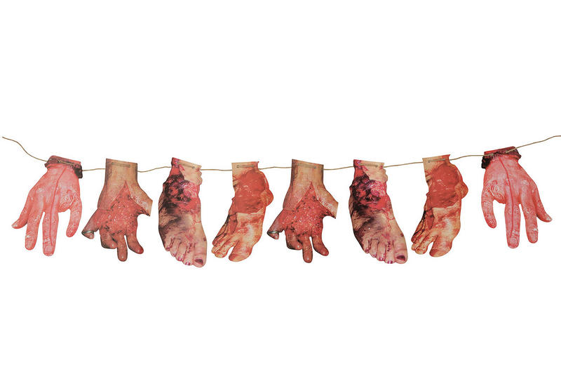 Severed Hands & Feet Bunting Halloween Fancy Dress Party Decoration