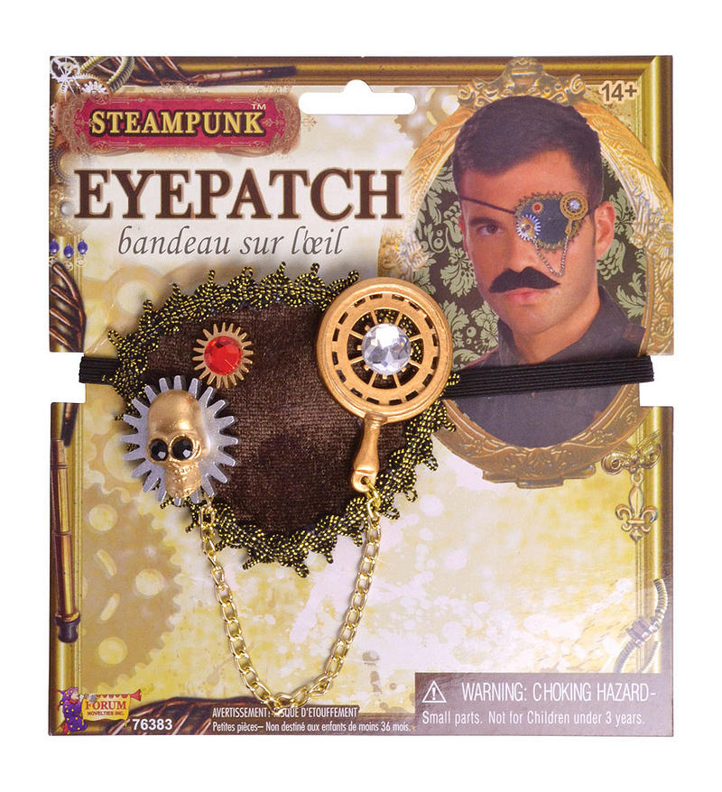 Vintage Style Steampunk Eyepatch With Cog Detail Fancy Dress Prop