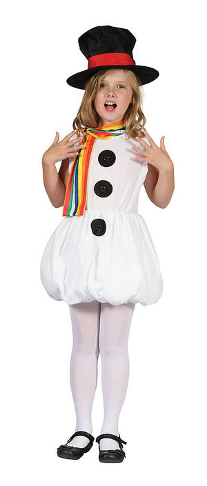 Childrens Snowman Fancy Dress Christmas Costume Girls Kids Outfit 3-10 Yrs