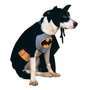 Classic Batman Fancy Dress Costume Outfit Dog Halloween Pet Animal S To XL