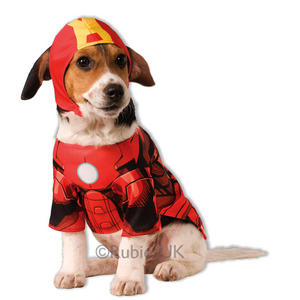 Pet Dog Cat Iron Man Costume Rubies Fancy Dress Avengers Outfit Superhero Animal