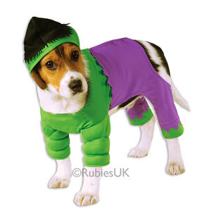 The Incredible Hulk Fancy Dress Costume Outfit Dog Halloween Pet Animal S To XL
