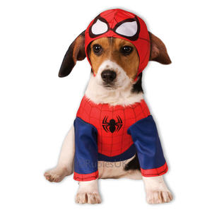 Pet Dog Spiderman Costume Rubies Fancy Dress Avengers Halloween Outfit S-XXL