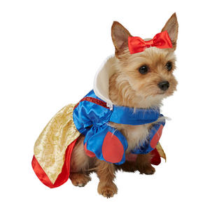 Pet Dog Snow White Costume Fancy Dress Costume Outfit Rubies Disney Princess