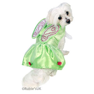 Pet Cat Dog Tinkerbell Costume Rubies Disney Fairy Fancy Dress Outfit XS-M