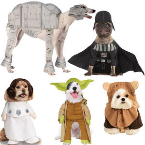 Pet Dog Cat Yoda Costume Rubies Fancy Dress Star Wars Outfit HalloweenS-XL