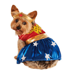 Rubies Wonder Woman Fancy Dress Costume Outfit Dog Pet Animal S To XL