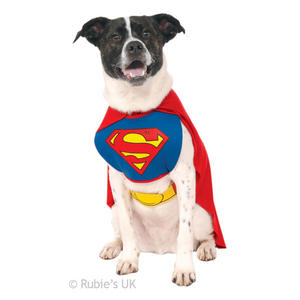 Rubies Superman Fancy Dress Costume Outfit Dog Pet Animal S To XL