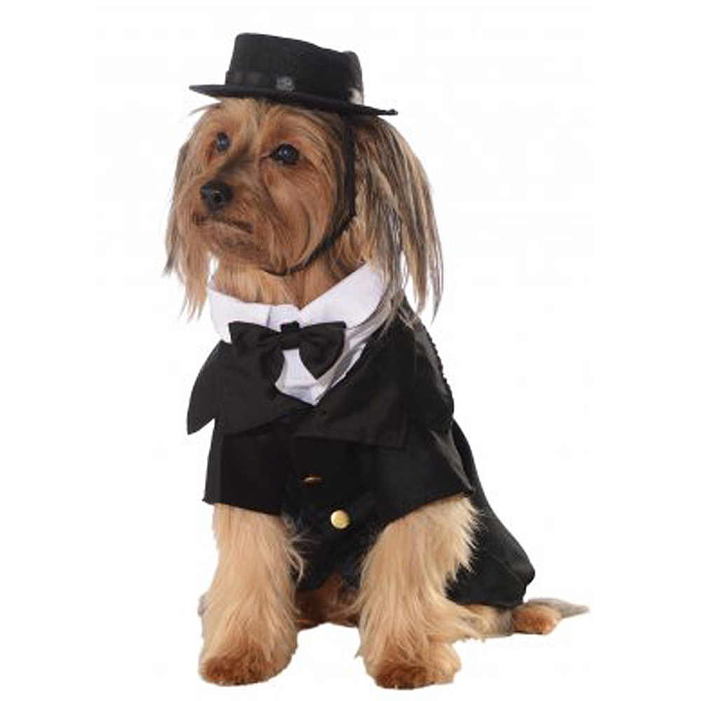Dog Puppy Pet Victorian Gentleman Suit Fancy Dress Costume Outfit Clothing