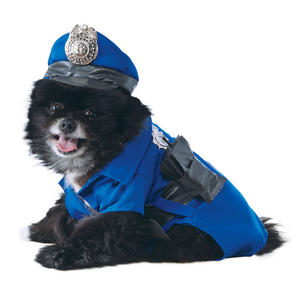 Dog Pet Police Fancy Dress Costume Copper Policeman Outfit S-XL