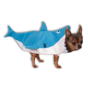 Funny Shark Fancy Dress Costume Outfit Dog Halloween Pet Animal S To XL