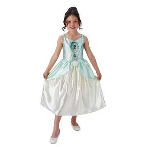 Childrens Disney Princess Tiana Fancy Dress Costume Girls Kids Outfit 3-10 Yrs
