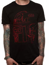 Black R2D2 Robot - Star Wars 8 The Last Jedi Mens T-Shirt Top S