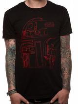 Black R2D2 Robot - Star Wars 8 The Last Jedi Mens T-Shirt Top M