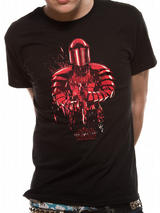 Black Star Wars 8 The Last Jedi Praetorian Guard Mens T-Shirt Top L