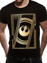 Black Gold Star Wars 8 The Last Jedi - Jedi Badge Mens T-Shirt Top M